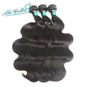 Image 3 - ALI GRACE Hair Brazilian Body Wave Hair 4 Bundles Human Hair Extention Remy Hair Natural Color 10 28 inch Free Shipping
