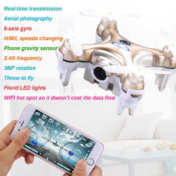 Cheerson CX-10W Drone with Camera hd RC Quadcopter FPV Drone Phone WIFI Control Remote Control Helicopter 2.4G 4CH 6-axis Gyro
