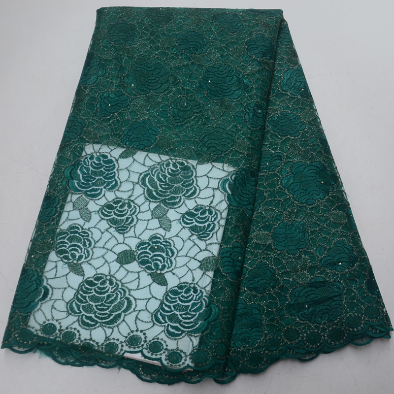 10 colors (5yards/pc) emerald green African French net lace factory price tulle lace fabric with embroidery for dress  FLP05410 colors (5yards/pc) emerald green African French net lace factory price tulle lace fabric with embroidery for dress  FLP054