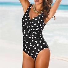 Women One Piece Monokini Sexy Dot Costume Ladies Push Up Swimwear Beach Party Bikini Biquinis Feminino Swimsuit 18Jan12