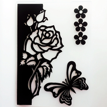 YLEF061 Flower Plastic Embossing Folder For Scrapbook Stencils DIY Photo Album Cards Making Decoration Scrapbooking Template