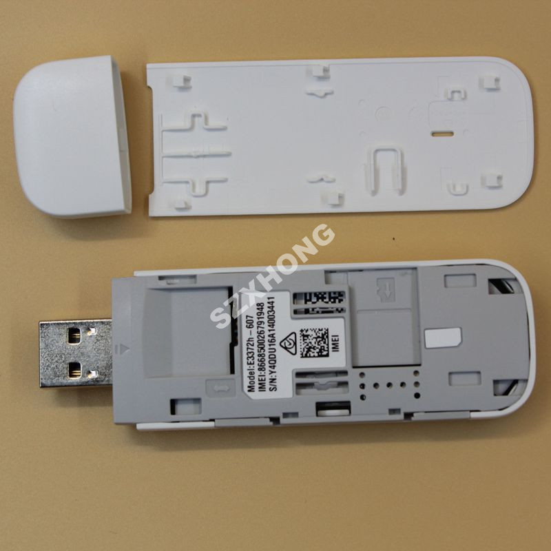 New Original Unlock HUAWEI E3372 E3372h-607 150Mbps 4G LTE USB Modem Dual  Antenna Port Support All Band with CRC9antenna