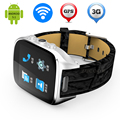 GPS WiFi Smart Watch Phone ZW66 Поддержка Sim-карты Вызова релох Inteligente Heart Rate Monitor Шагомер Android Fm-радио Камеры MP3