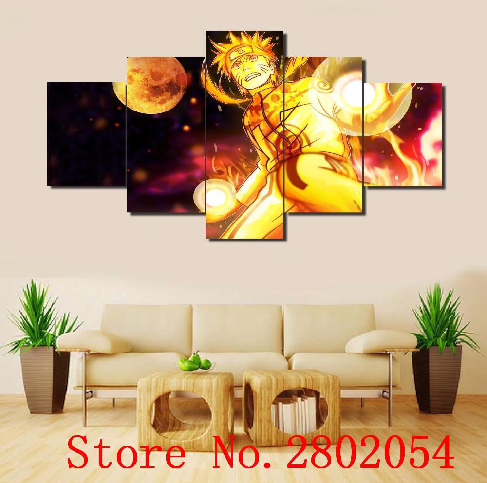 AtFipan Hot Sell Modular Wall Paintings 5 Piece Art Naruto Anime ...