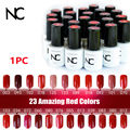 Beautiful NC Gel Polish 5ml 23 Amazing Red colors UV Gel Polish  UV Top Coat Led Gel Lamp Colored