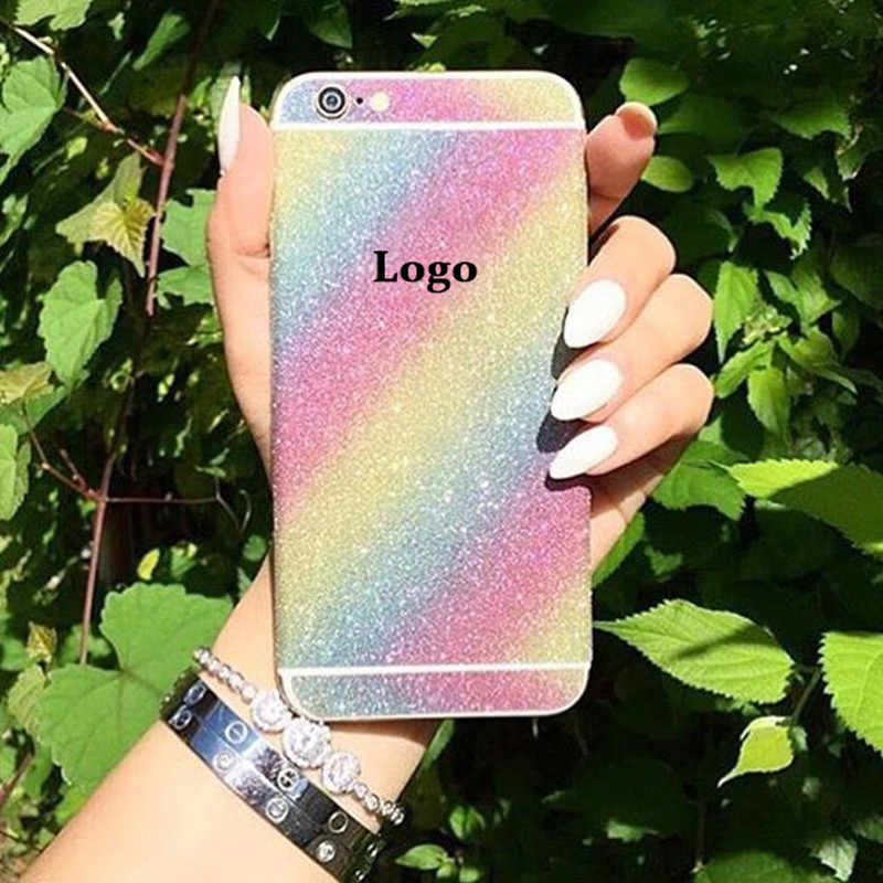 ZRICKIE For iPhone 7 Glitter Full Body Decals skin sticker Cover for iPhone  7 8 6 8bc0bf2e0a6a