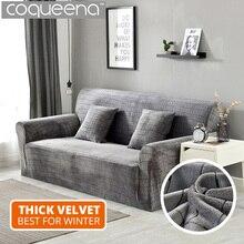1/2/3/4 Seat Super Soft Thick Velvet Sofa Cover Living Room