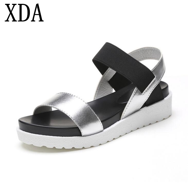 XDA Roman Sandals Flat-Shoes Summer Peep-Toe New Casual Gladiator