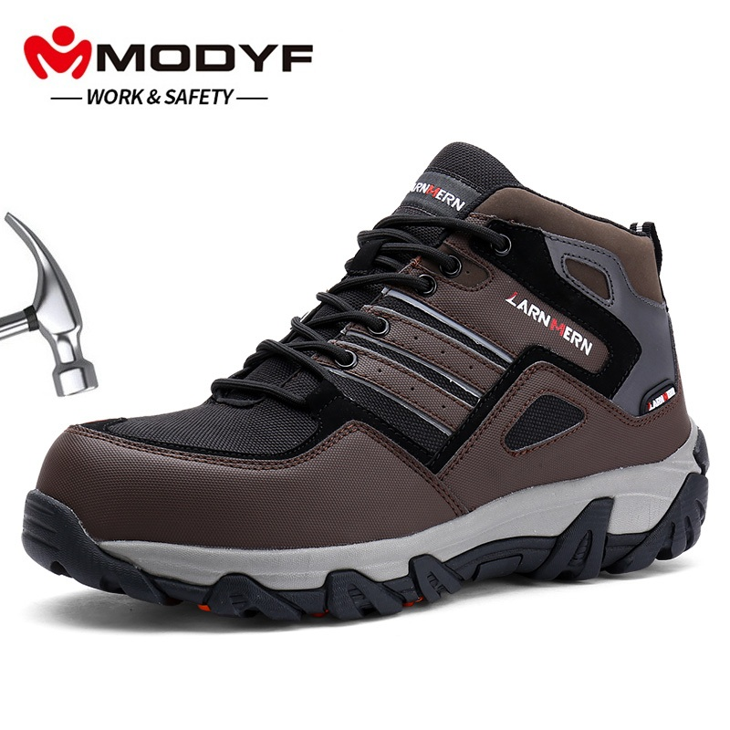 MODYF Men Steel Toe Work Safety Shoes Casual Reflective Outdoor Boots Puncture Proof Footwear Sneaker Winter