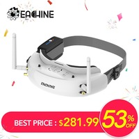 Eachine EV200D 1280*720 5.8G 72CH Keragaman Sejati FPV Kacamata HD Port Di 2D/3D Built-In DVR