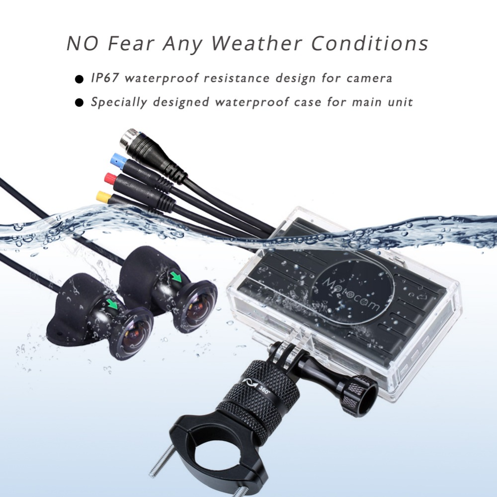 Full HD dual 1080P 170 degree large wide angle motorcycle action DVR vsys official M2F WIFI camcorder X2 upgrade option in DVR Dash Camera from Automobiles Motorcycles