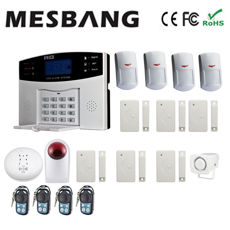 GSM alarm system with wireless smoking sensors shipping by DHL