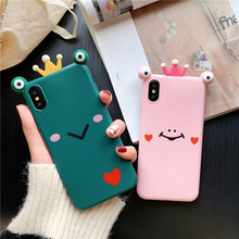 Silicone Cute Luxury Case For iphone 6 6S 7 8 Plus Phone Cases X Xs Max Xr cover cartoon 3D stereoscopic Crown animal