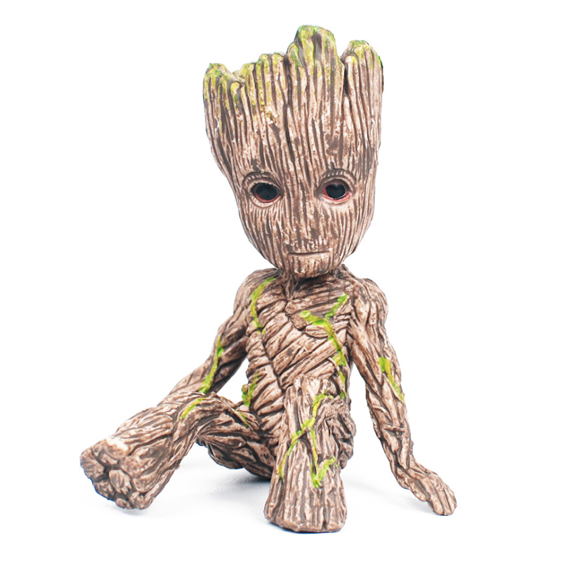 6cm Tree Man Baby Action Figure Grootted Doll Grunt Guardians of The Galaxy Model Toy Statue Ornaments Groot Toy For Kids crazy toy guardians of the galaxy groot rocket raccoon 6 24 action figure collection model toy gifts