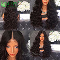 Suelta la Onda Glueless Superior de Seda Peluca Llena Del Cordón Del Pelo Humano 5x4.5 Base de seda Pelucas Para Las Mujeres Negras Nudos Blanqueados Peruana Llena Del Cordón peluca