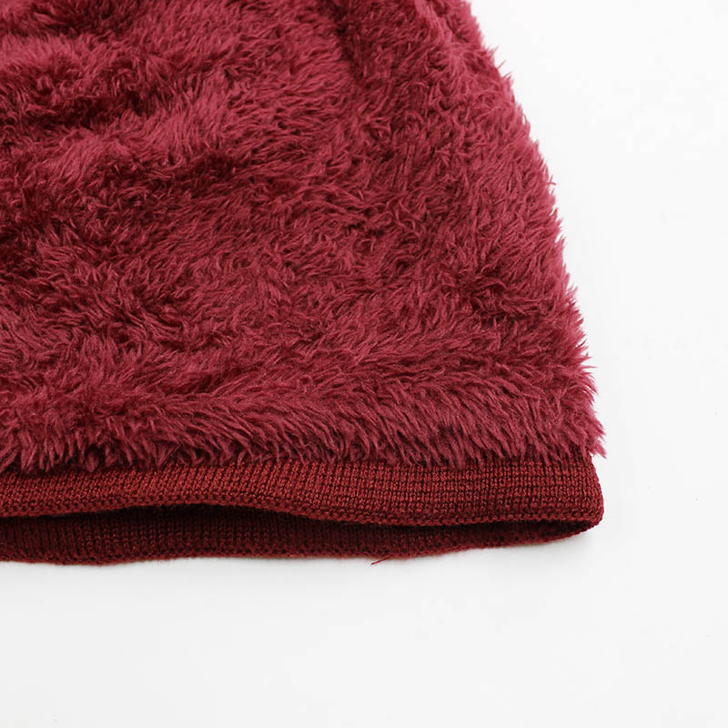 LOVINGSHA Faux Fur Warm Baggy тоқылған шляпалар - Киімге арналған аксессуарлар - фото 6