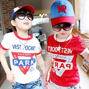 2012 summer letter armbandand boys clothing girls clothing baby short-sleeve T-shirt tx-0967