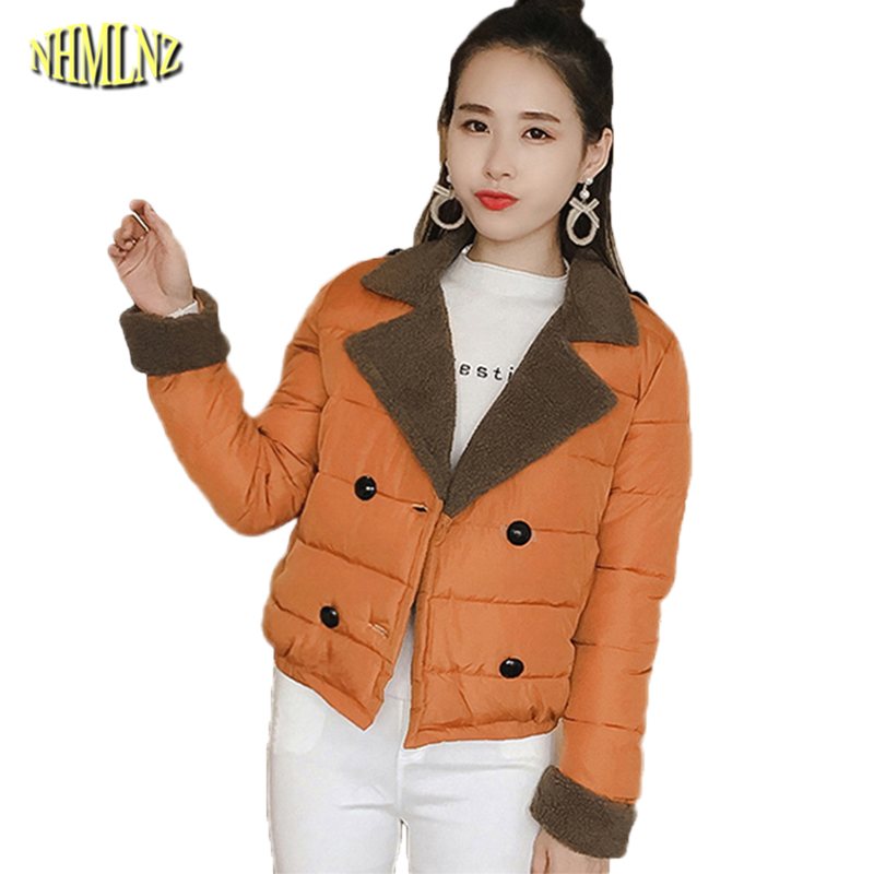 New Autumn And Winter Women Jacket Students Fashion Slim Short Cotton coat Light and thin Long sleeve Elegant Female Coat WK253 point systems migration policy and international students flow