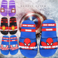 2017 baby girls boys slippers children pvc rubber cartoon captain america Iron spiderman toddler kids home bathroom sandal FA031