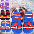 2017 muchachos de los bebés zapatillas niños pvc spiderman capitán américa Iron toddler kids home baño de dibujos animados de goma sandalia FA031