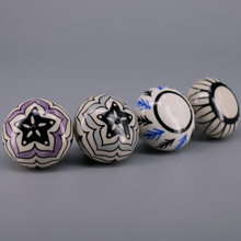 1x Dia 38mm Hand Painted Ceramic Furniture Box Handle Bedroom Cupboard Door Cabinet Knobs Drawer Pulls Home Decoration