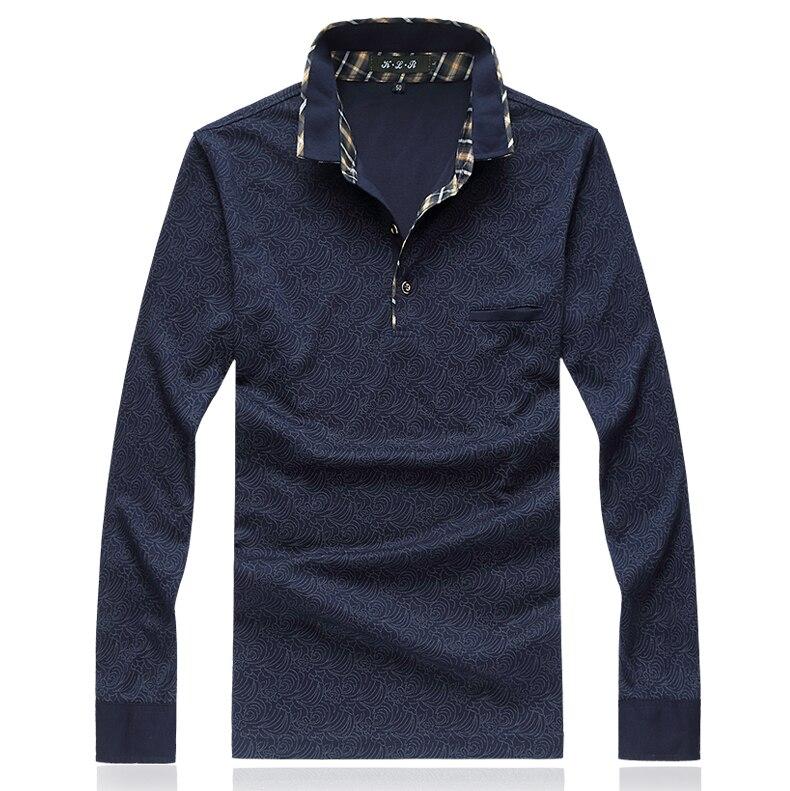 13c8c8469f Camisa Polo 2018 Outono Nova de Manga Comprida Camisa Dos Homens do Polo de  Inverno Turn Down Collar Business Casual Mens Marcas Camisa Pólo 4XL M Venda  em ...