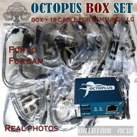 Original NEW Octopus box Full activated for LG and for Samsung 19 cables including optimus Cable Set Unlock Flash & Repair Tool