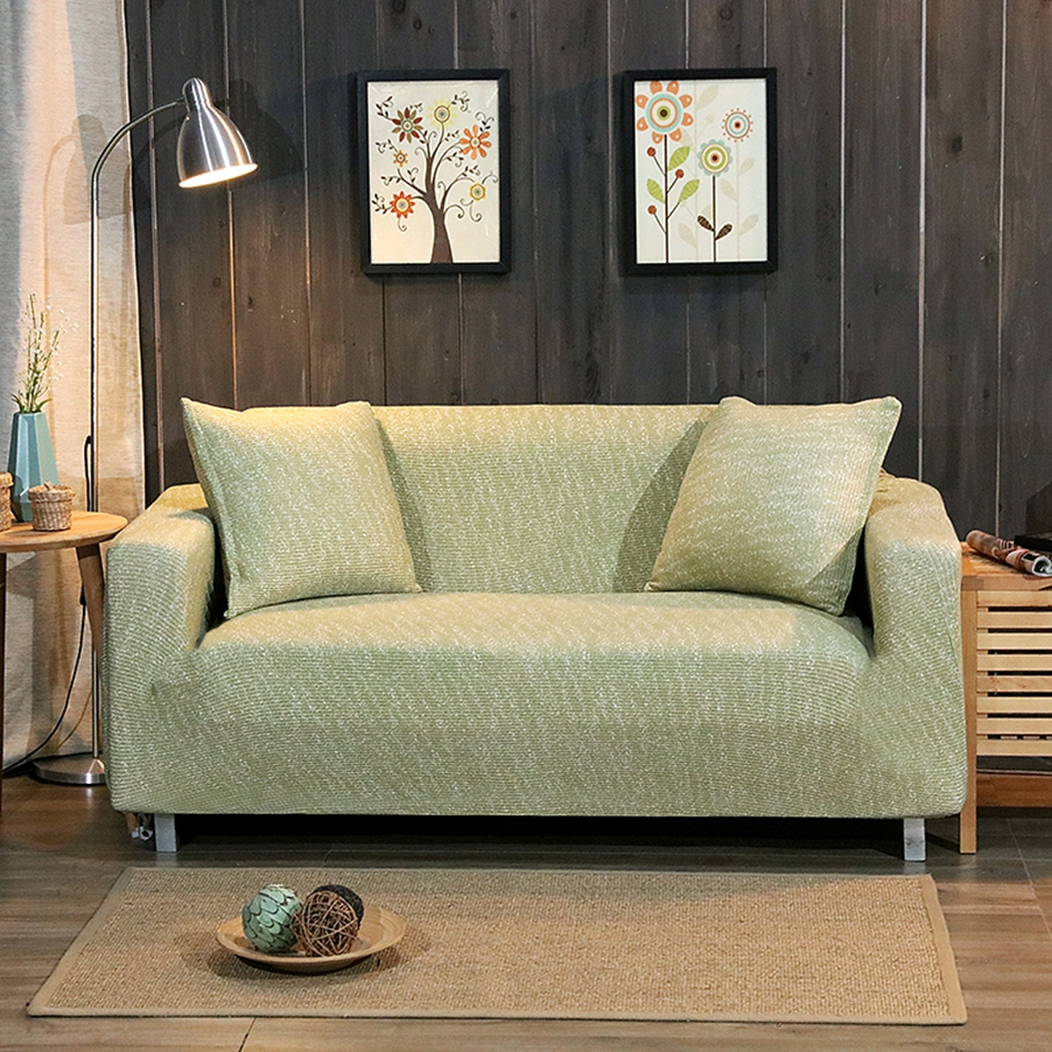 US $38.76 49% OFF|Green Knitted Sofa Cover For Living Room stretch Tightly  Wrap Couch/Corner Sofa Cover Loveseat Furniture all inclusive Slipcover-in  ...