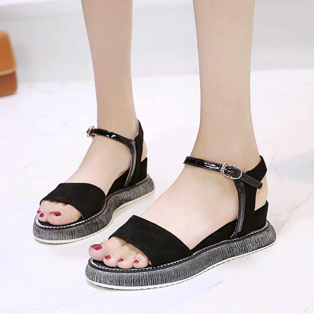 huge selection of low price sale online shop women comfy platform sandal shoes Casual Female teva Sandals 2019 ...
