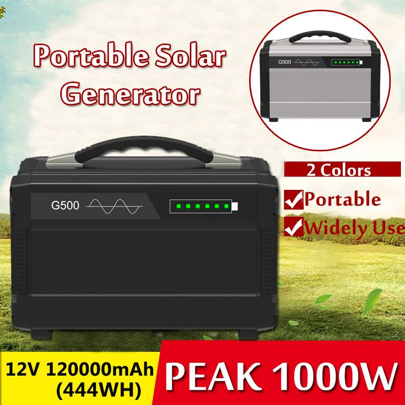 600W/1000W 80000/120000mAh LCD Solar Power Storage Generator Inverter Outdoor UPS Pure Sine Wave Power Supply USB Energy Storage
