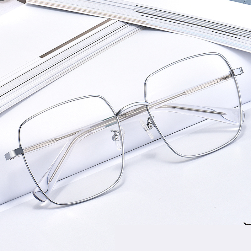 High Quality Fashional Vintage Big Square Optical Glasses Frame Prescription Eyeglasses for Men Women Spectacle Oculos