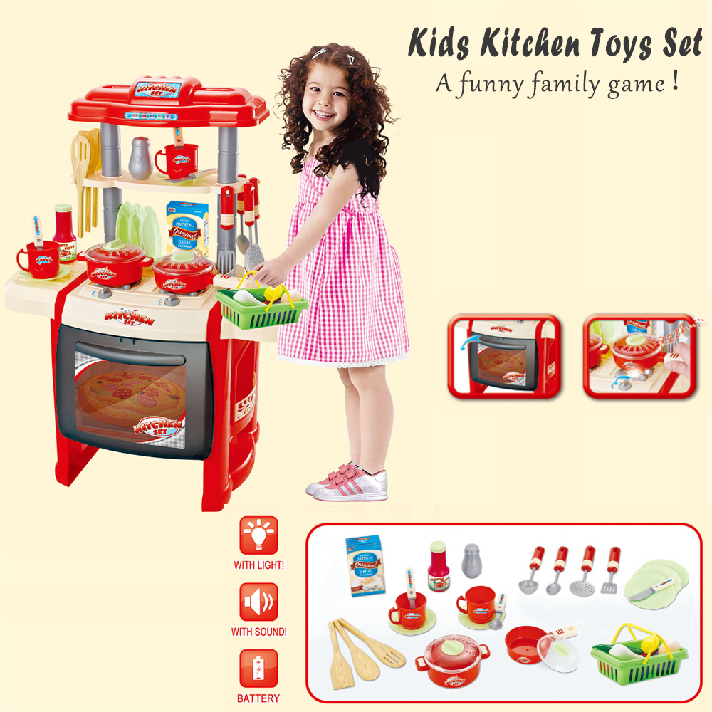 Multifunctional Children Play Toy Girl Baby Toy Large Kitchen Cooking Simulation Table Model with Kids Plastic Fruit Vegetables hot sale multifunctional kitchen supplies cooking tools fruit vegetables peeler