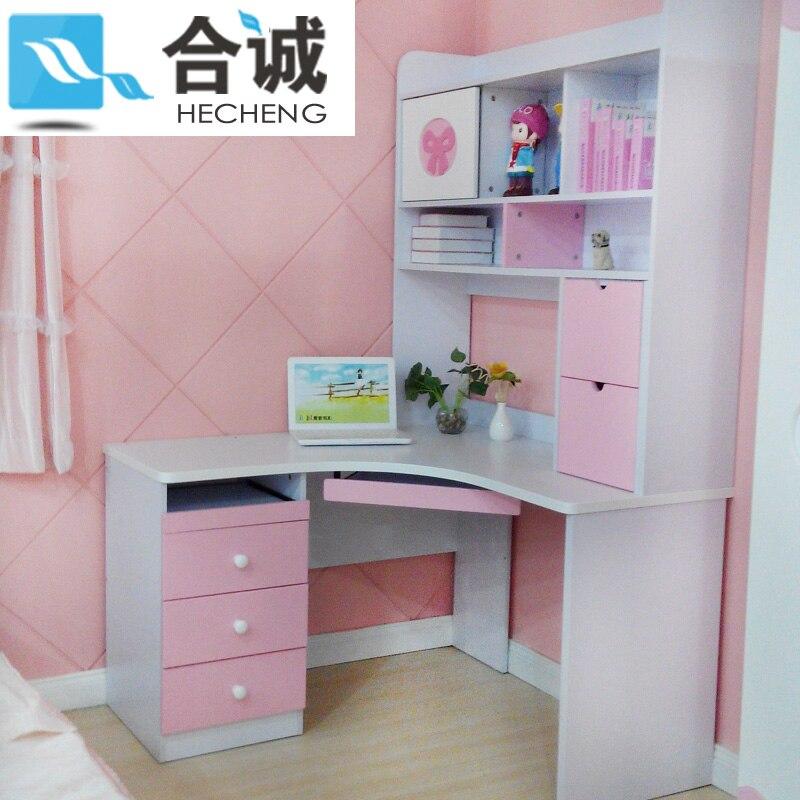 Childrenu0027s Corner Suite Hot Girl Princess Wood Computer Desk Desk Study  Table Child Bedroom Furniture In Children Furniture Sets From Furniture On  ...