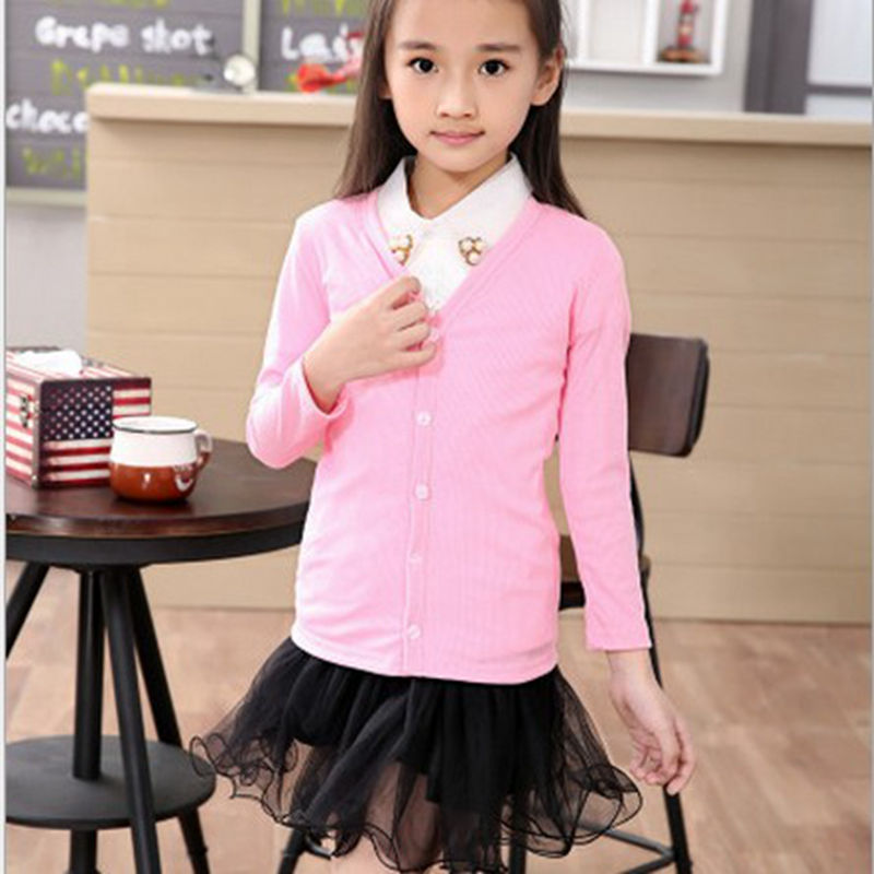 2016 New autumn girls cardigan 2-8Y kid boys top coat clothes children coats kids baby Knit Long-Sleeve girl sweater soft jacket