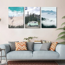 Modern Nordic Style Canvas Painting Landscape Print Painting Wall Art Poster Modular Picture for Bedroom Decoration no Frame(China)