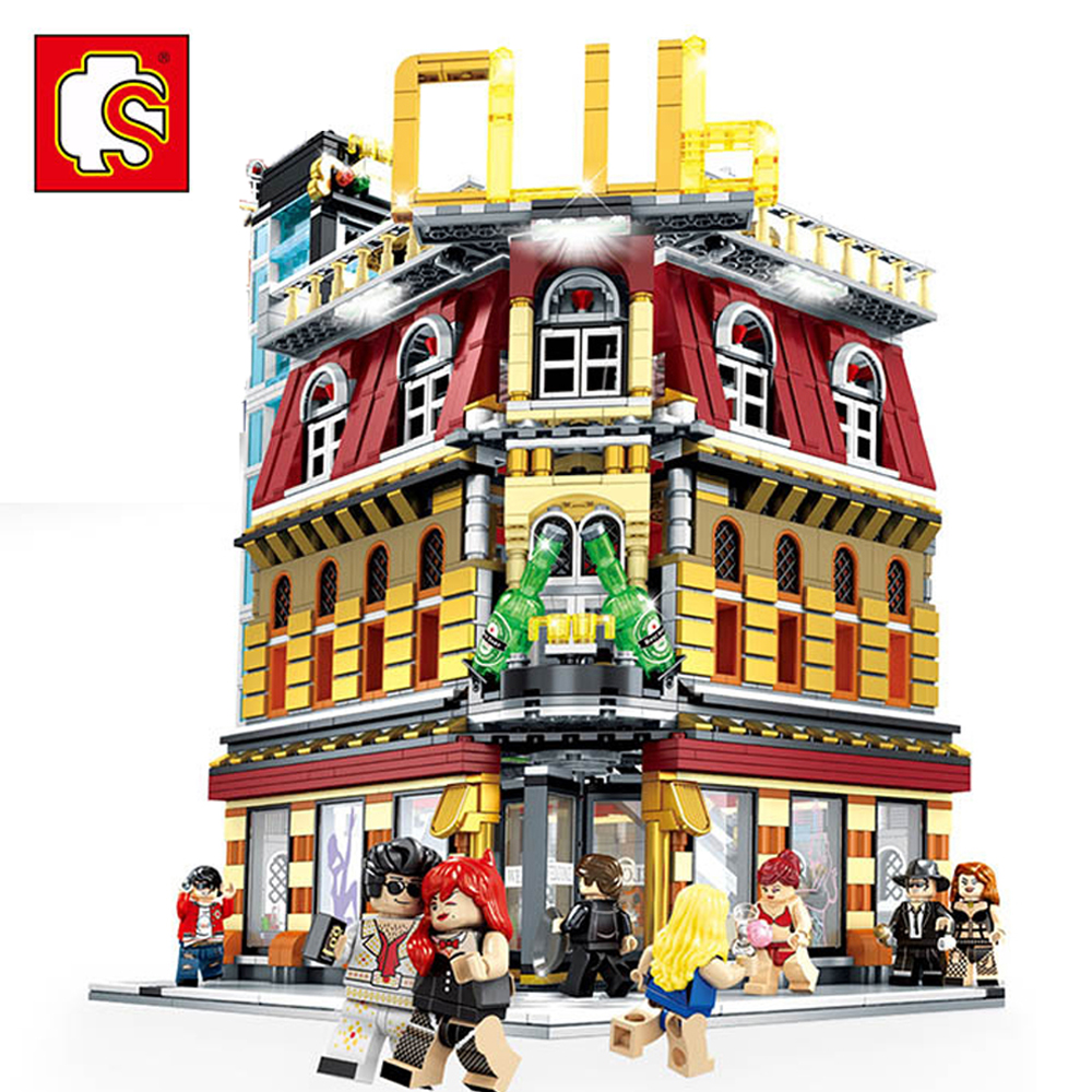 2488pcs Sembo City Blocks StreetView 5in1 Night Club Bar Compatible with Legoing City DIY Creative Building Blocks Toys2488pcs Sembo City Blocks StreetView 5in1 Night Club Bar Compatible with Legoing City DIY Creative Building Blocks Toys
