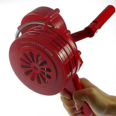 Фотография 1 x Hand Crank Operated Emergency Alarm Siren Sound Rating 110db ABS