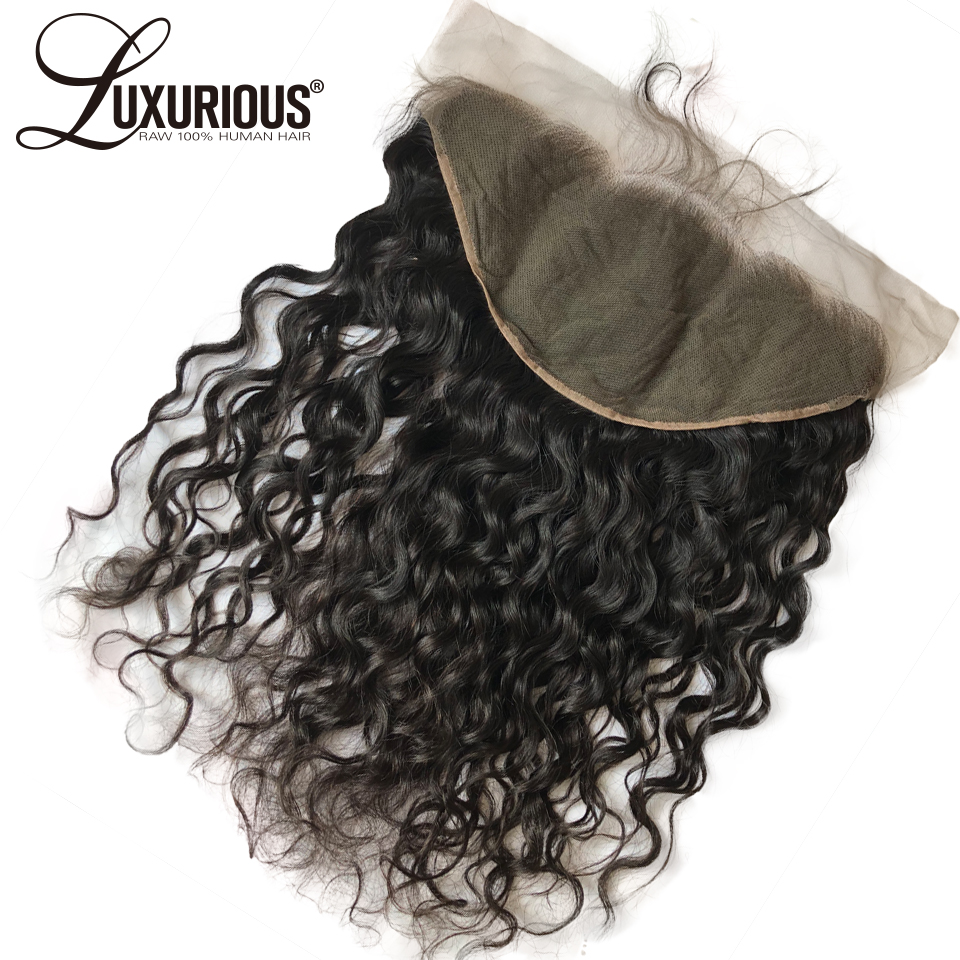 6inch Deep Parting Brazilian Remy Human Hair Natural Wave Ear To Ear 13x6 Lace Frontal Closure With Baby Hair 8-20inch Free Part