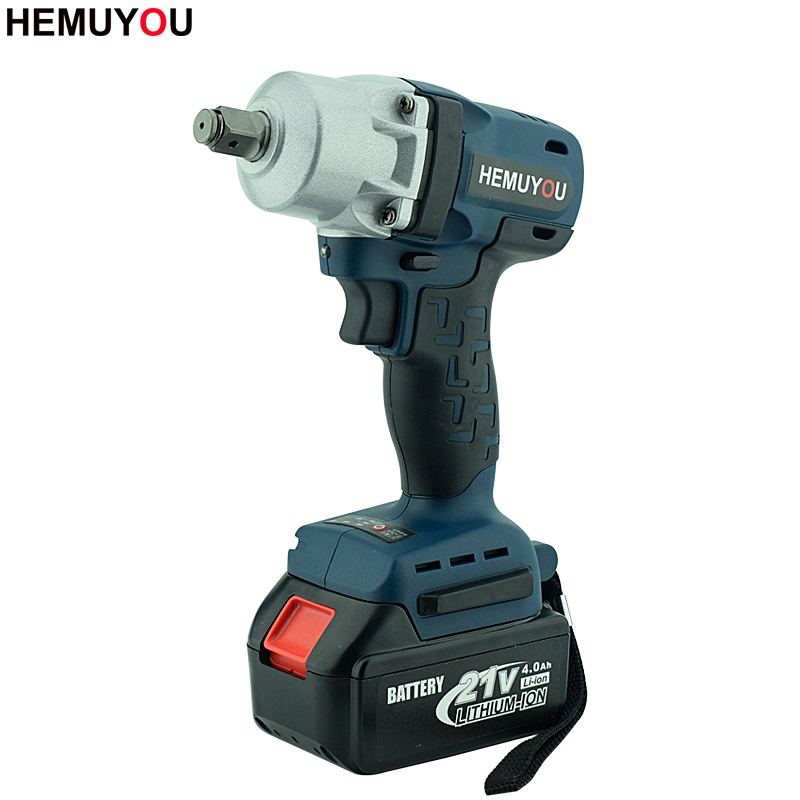 21V Brushless Electric Wrench Lithium-Ion Battery Impact Wrench Electric Tools Cordless Industrial Grade Electric Drill electric impact wrench 98 128 168 188vf electric brushless li ion battery wrench 10mm chuk with box cordless speed control power