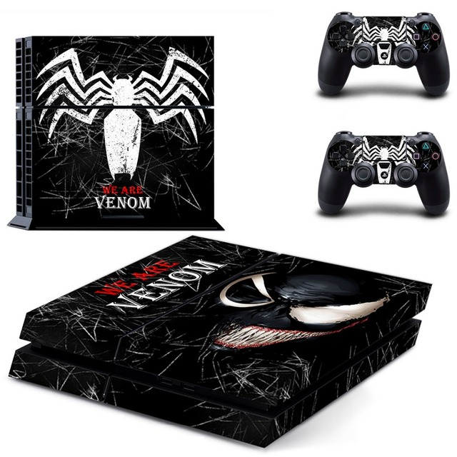 VENOM SPIDER PS4 Skin Stickers For Sony Playstation 4 PS4 Console Vinyl Decals Controllers Hot Game Cover Play station 4 Sticker 2