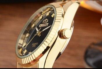 CHENXI Brand Top Luxury Ladies Gold Watch Women Golden Clock Female Women Dress Rhinestone Quartz Waterproof Watches Feminine 1