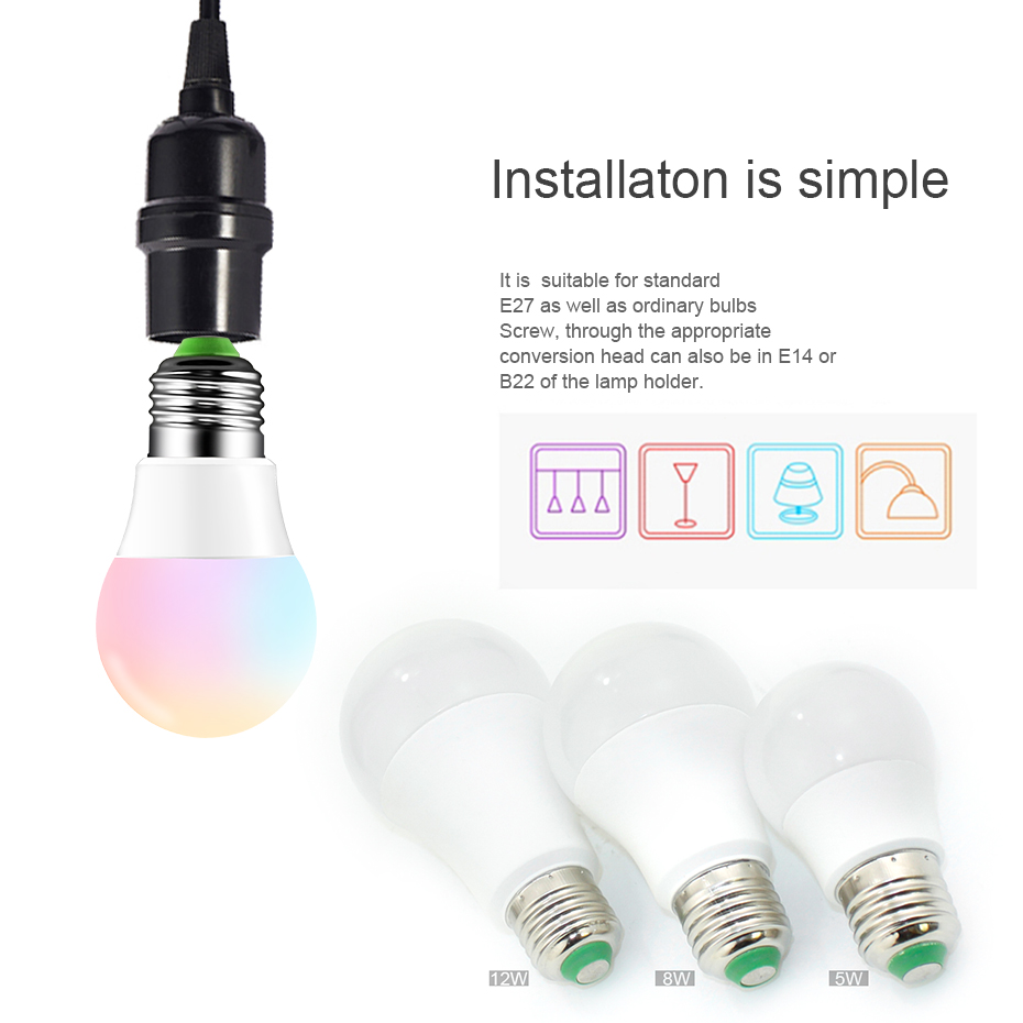 Image 2 - Magic RGB LED Light Bulb AC85 265V Smart Lighting Lamp Color Change Dimmable With IR Remote Controller 5W 10W 15W Smart Bulb-in LED Bulbs & Tubes from Lights & Lighting