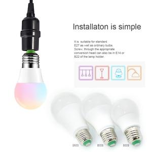 Image 2 - קסם RGB LED אור הנורה AC85 265V חכם תאורת מנורת צבע שינוי ניתן לעמעום עם IR מרחוק בקר 5W 10W 15W חכם הנורה