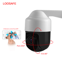 Loosafe 4X Zoom POE IP Camera wi fi Outdoor Camera Full HD 1080P PTZ Speed Dome IP Camera CCTV Security Video ONVIF IR 30M