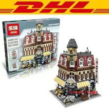 2016 New LEPIN 15002 2133Pcs Creators Cafe Corner Model Building Kit Minifigure Blocks Bricks Compatible Children Toy Gift 10182