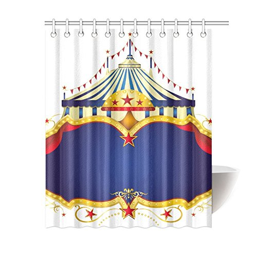 Aplysia Custom Circus Bathroom Waterproof Fabric Shower Curtain