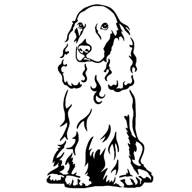 8 7 15 cm cocker spaniel chien voiture autocollants - Dessin de cocker ...