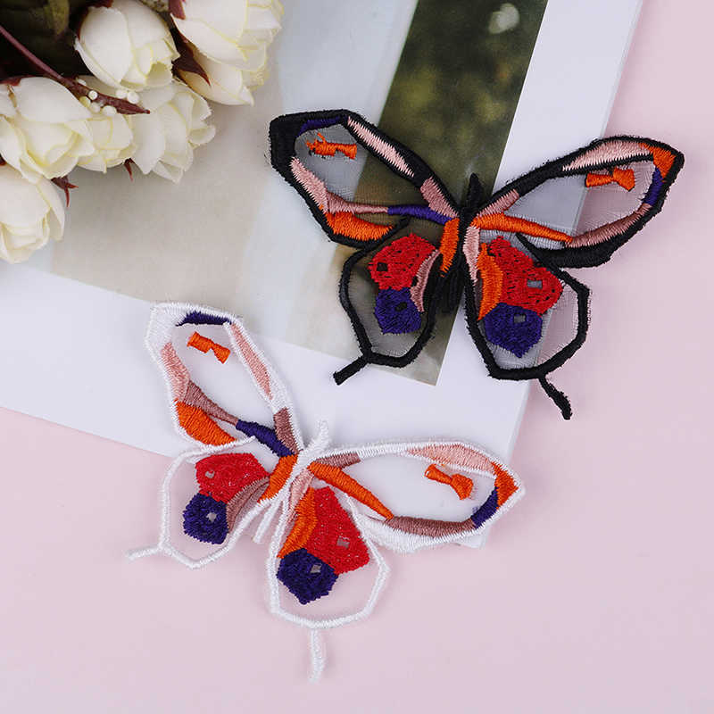 1Pcs ,DIY Lace Fabric Patching Neckline Clothing Applique Embroidery Butterfly Lace Fabric Patch Craft