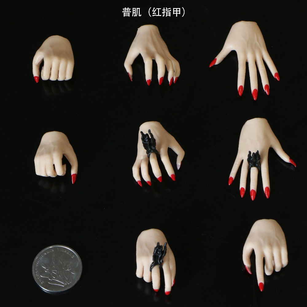 4 pairs Set For 12 quot Female Phicen Jiaodol Figure Body Colors 1 6 Scale Hands Type in Action amp Toy Figures from Toys amp Hobbies