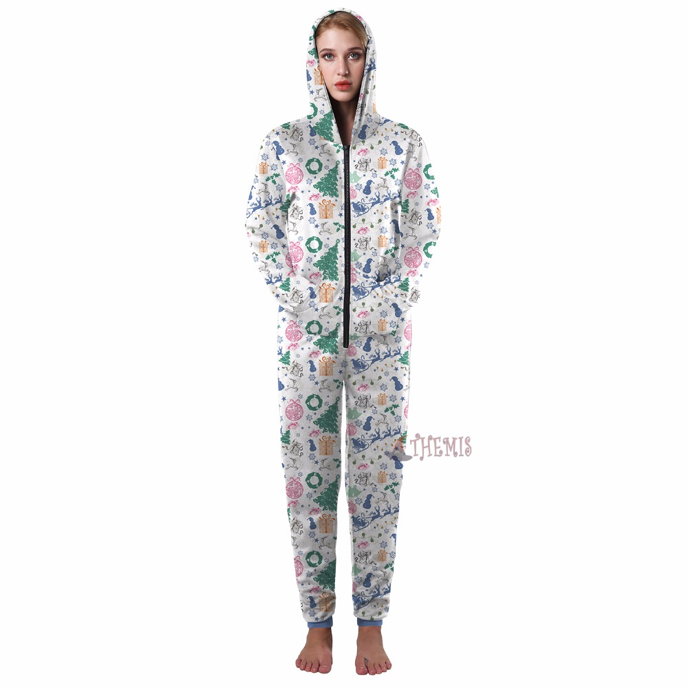 cosplay jumpsuits cosplay Christmas Adult style printing Pajamas custom made pattern High Quality Athemis